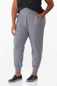 Plus Size Solid Stretch Joggers