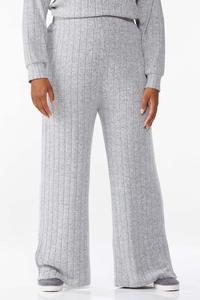 Plus Size Ribbed Knit Pants