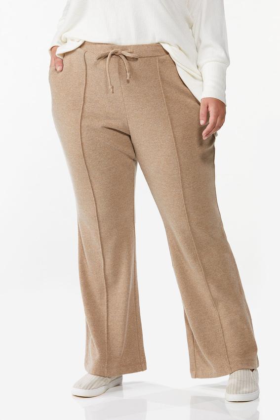 Plus Petite Tan Fleece Pants