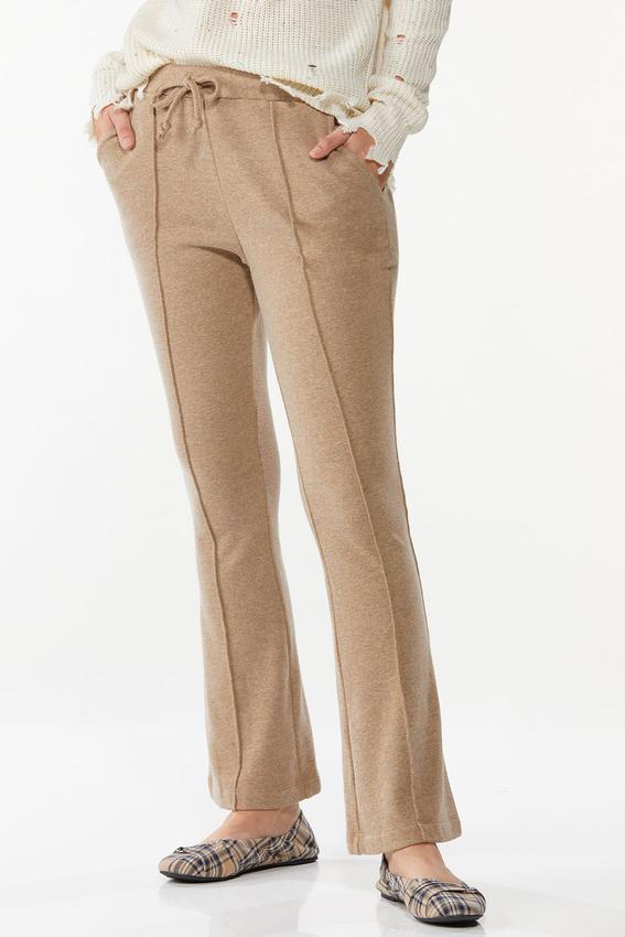 Petite Tan Fleece Pants