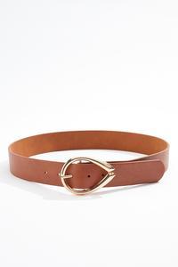Plus Size Oval Buckle Belt