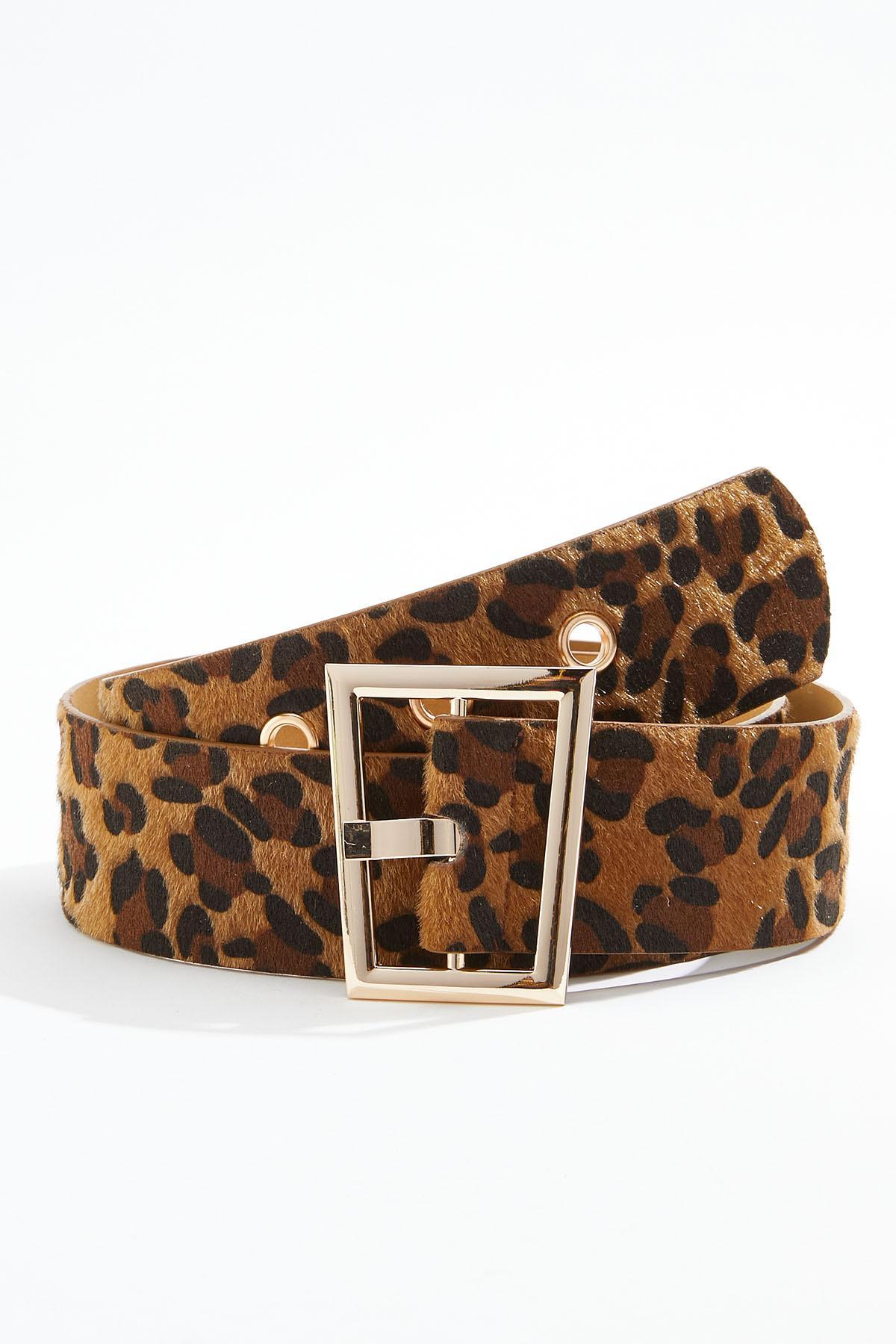 Plus Size Leopard Fur Belt