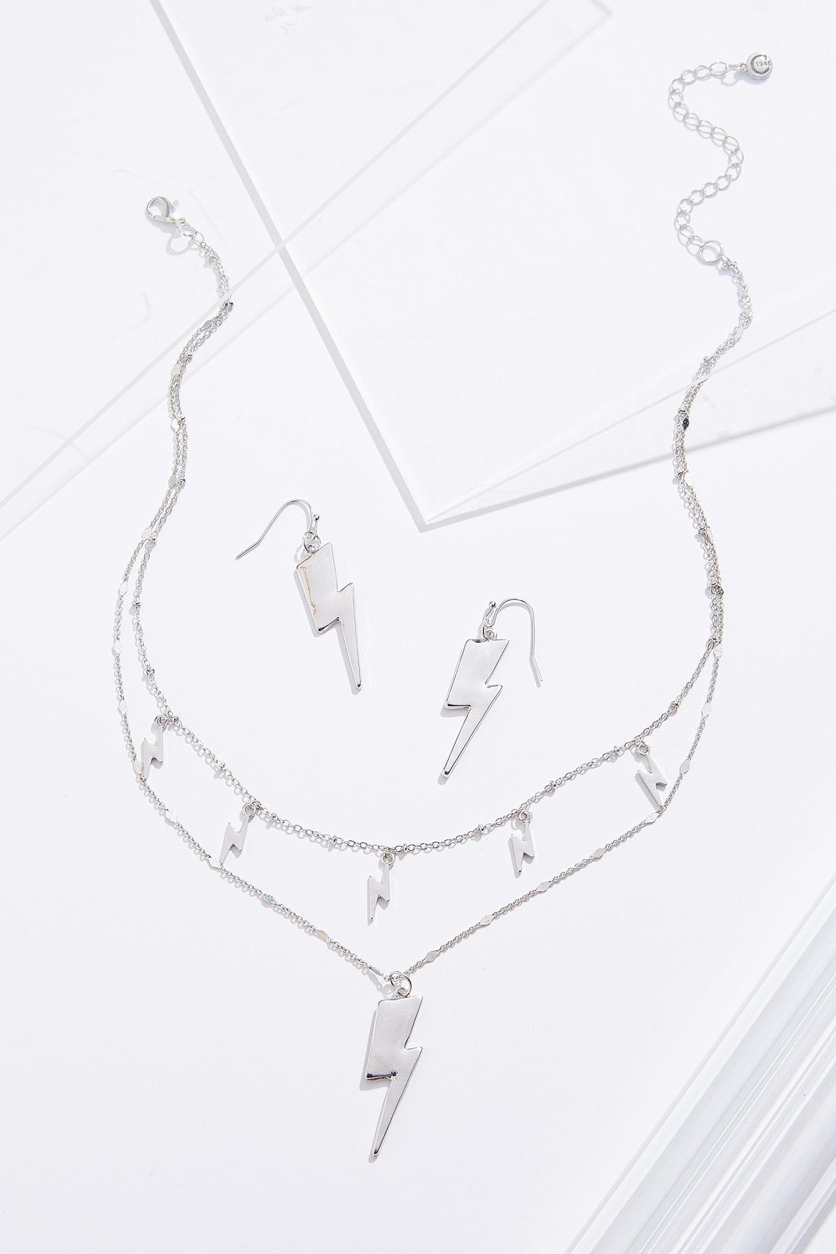 Lightning Bolt Necklace Set