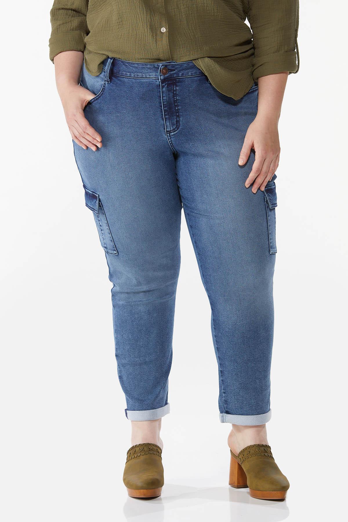 Plus Size Stretch Utility Jeans