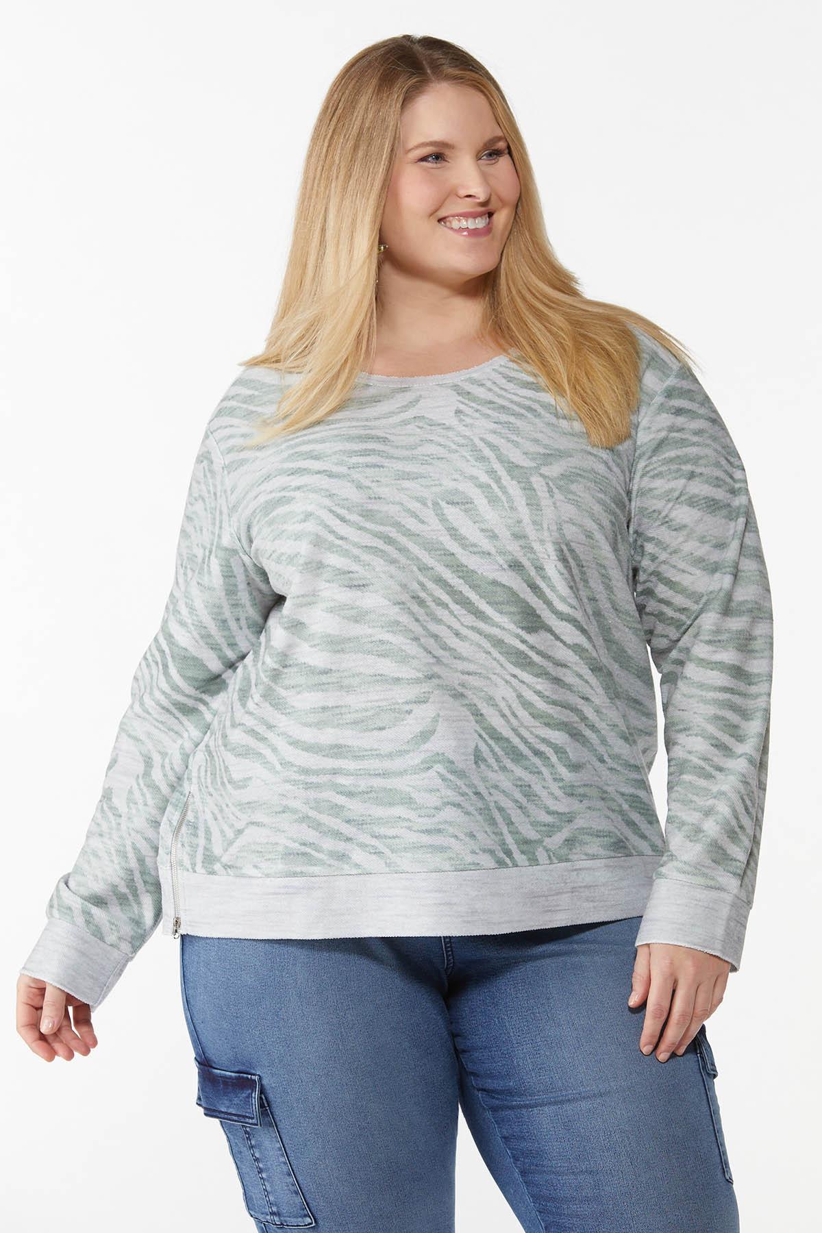 Plus Size Animal Print Sweatshirt