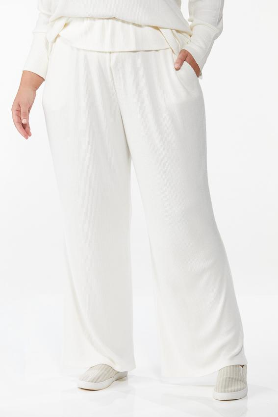 Plus Size Cozy Ribbed Lounge Pants