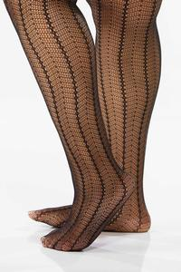 Plus Size Chevron Crochet Tights