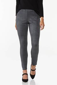 Faux Suede Houndstooth Leggings
