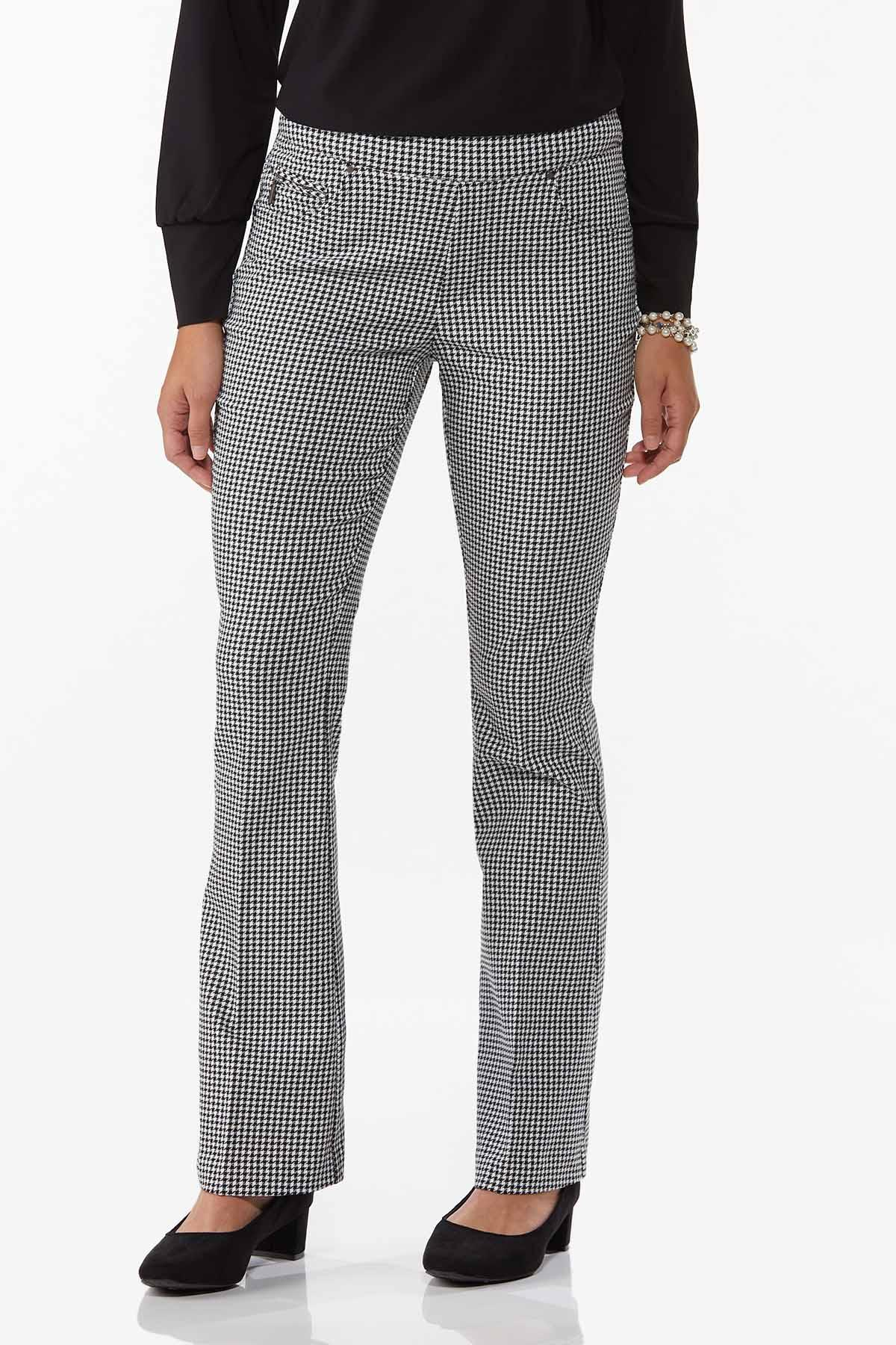 Houndstooth Pull-On Pants