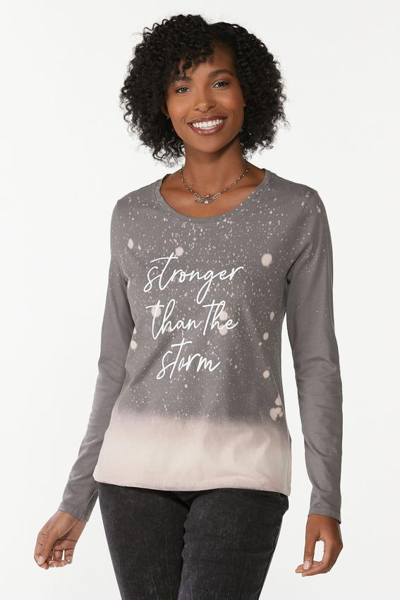 Plus Size Stronger Than Storm Tee