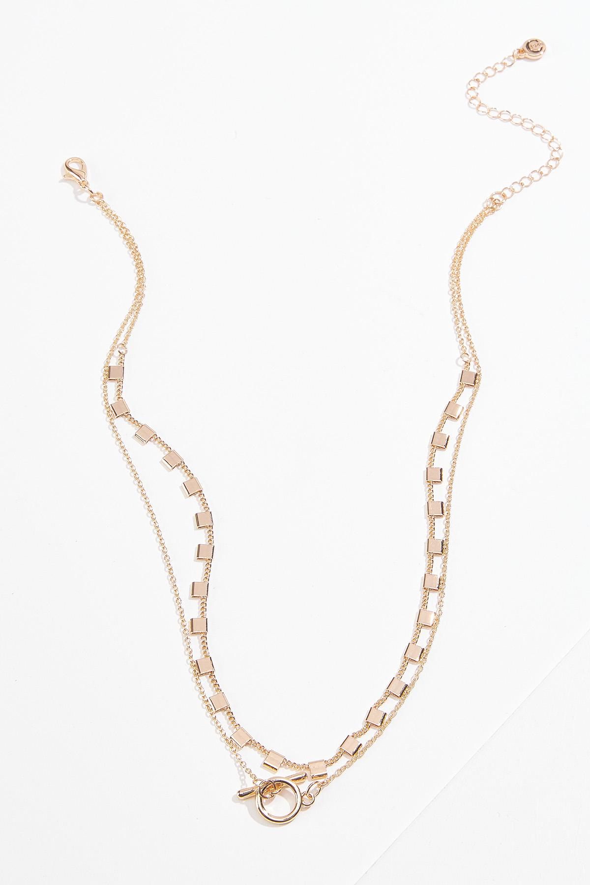 Delicate Toggle Layered Necklace