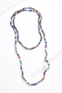 Rondelle Bead Long Necklace