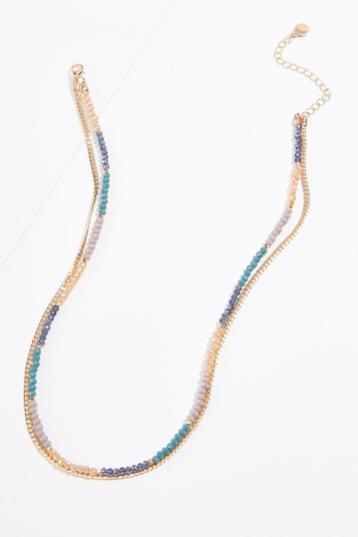 Colorblock Bead Layered Necklace