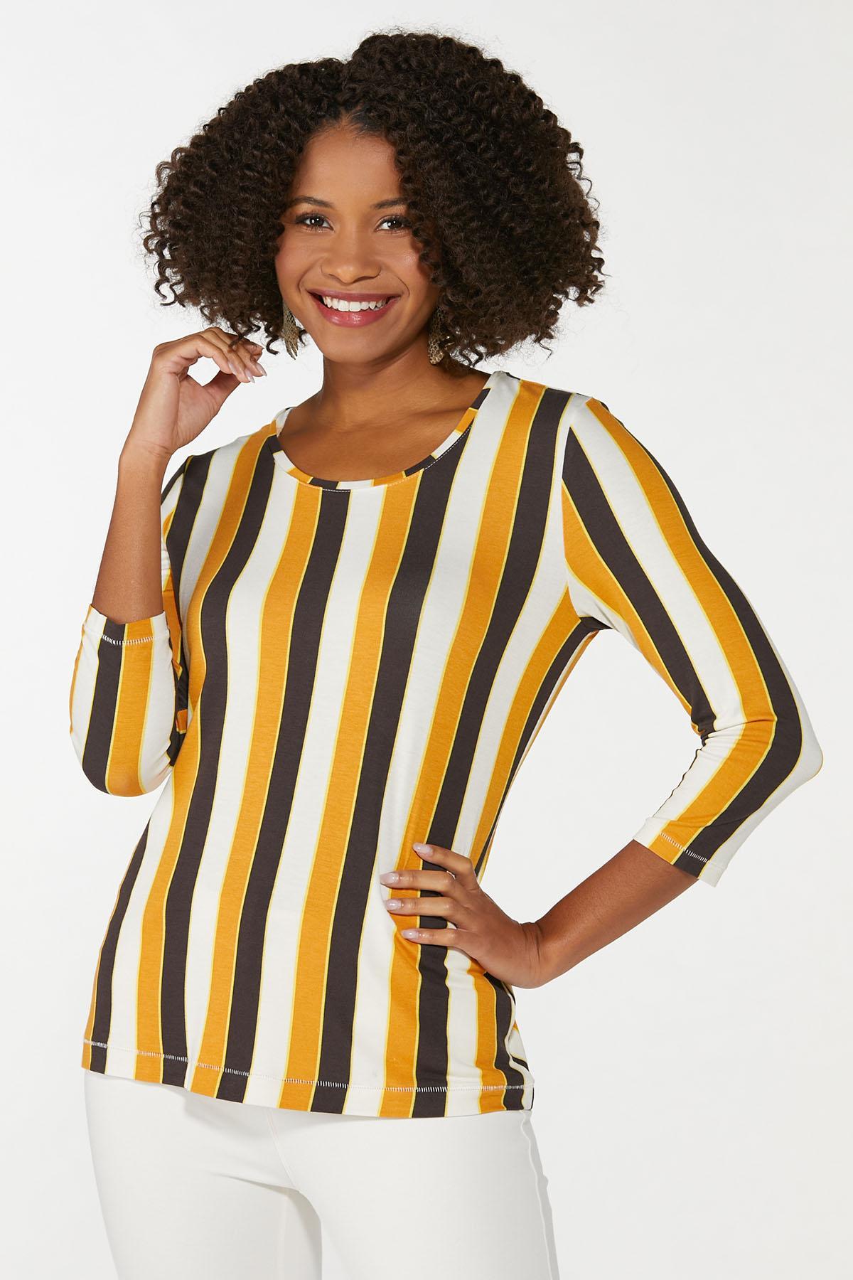 Gold Stripe Top