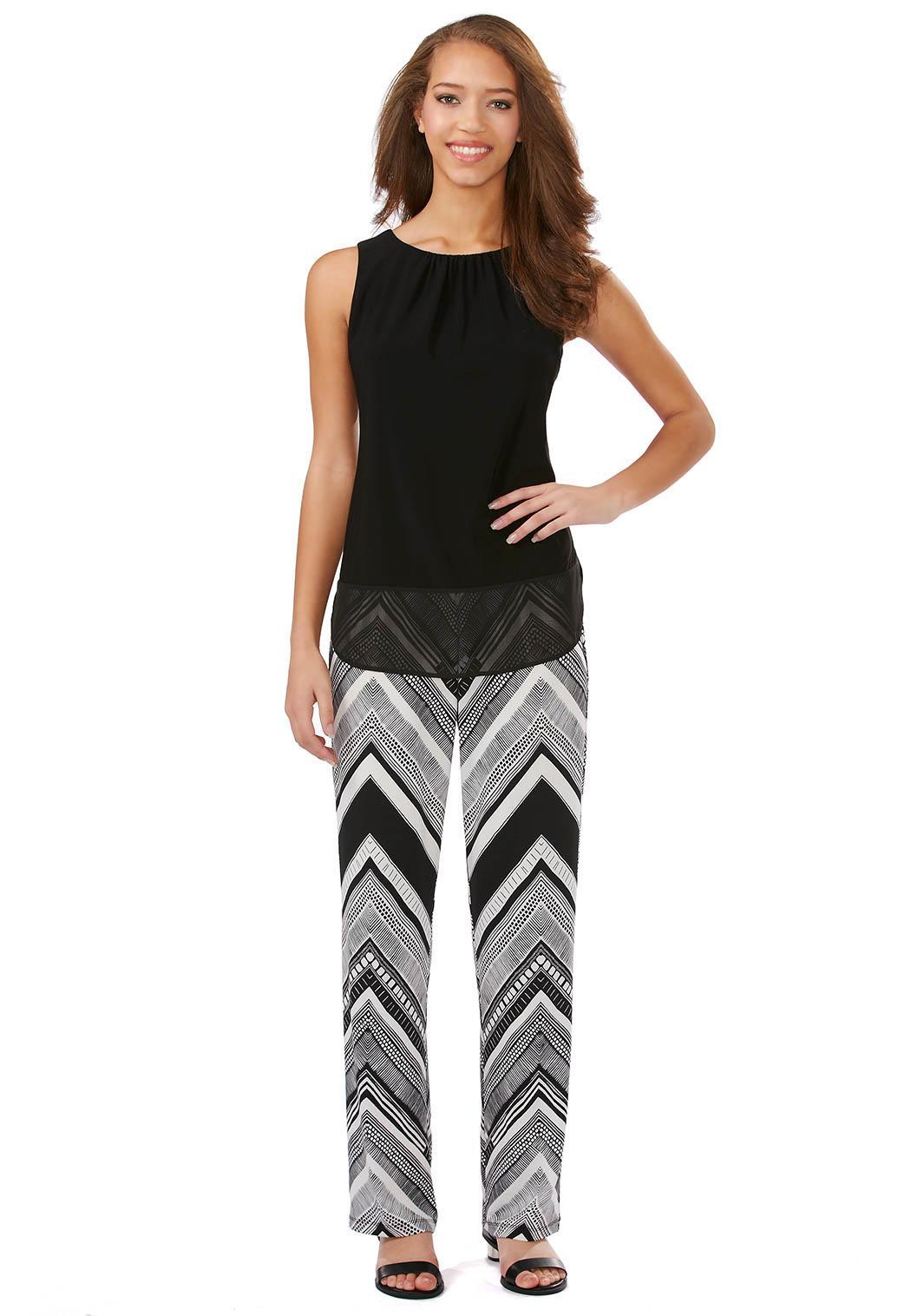 Chevron Popover Tunic Jumpsuit Plus Petite Dresses Cato