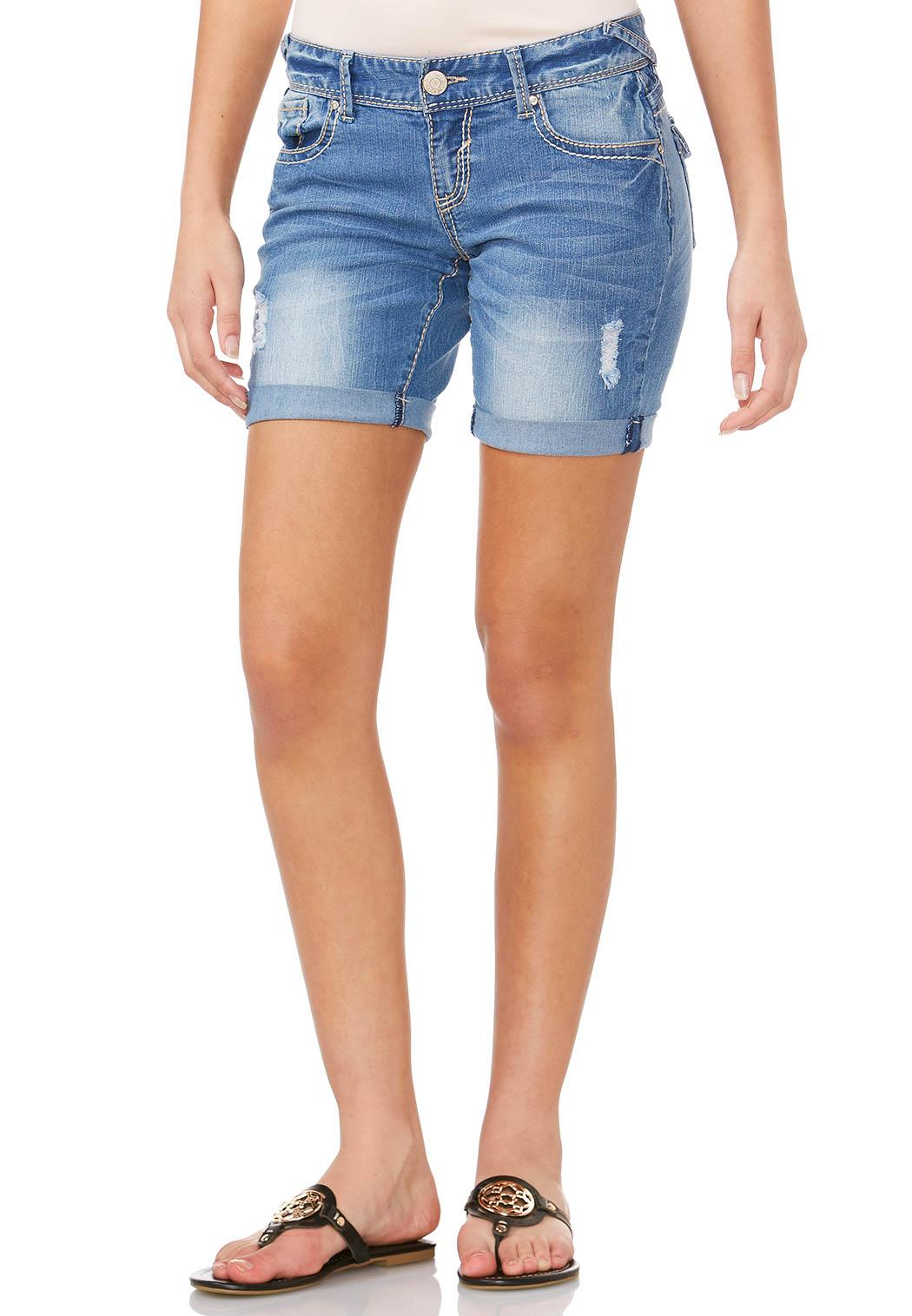Cato Fashions Hours In Dover Delaware Embroidered Pocket Jean Shorts