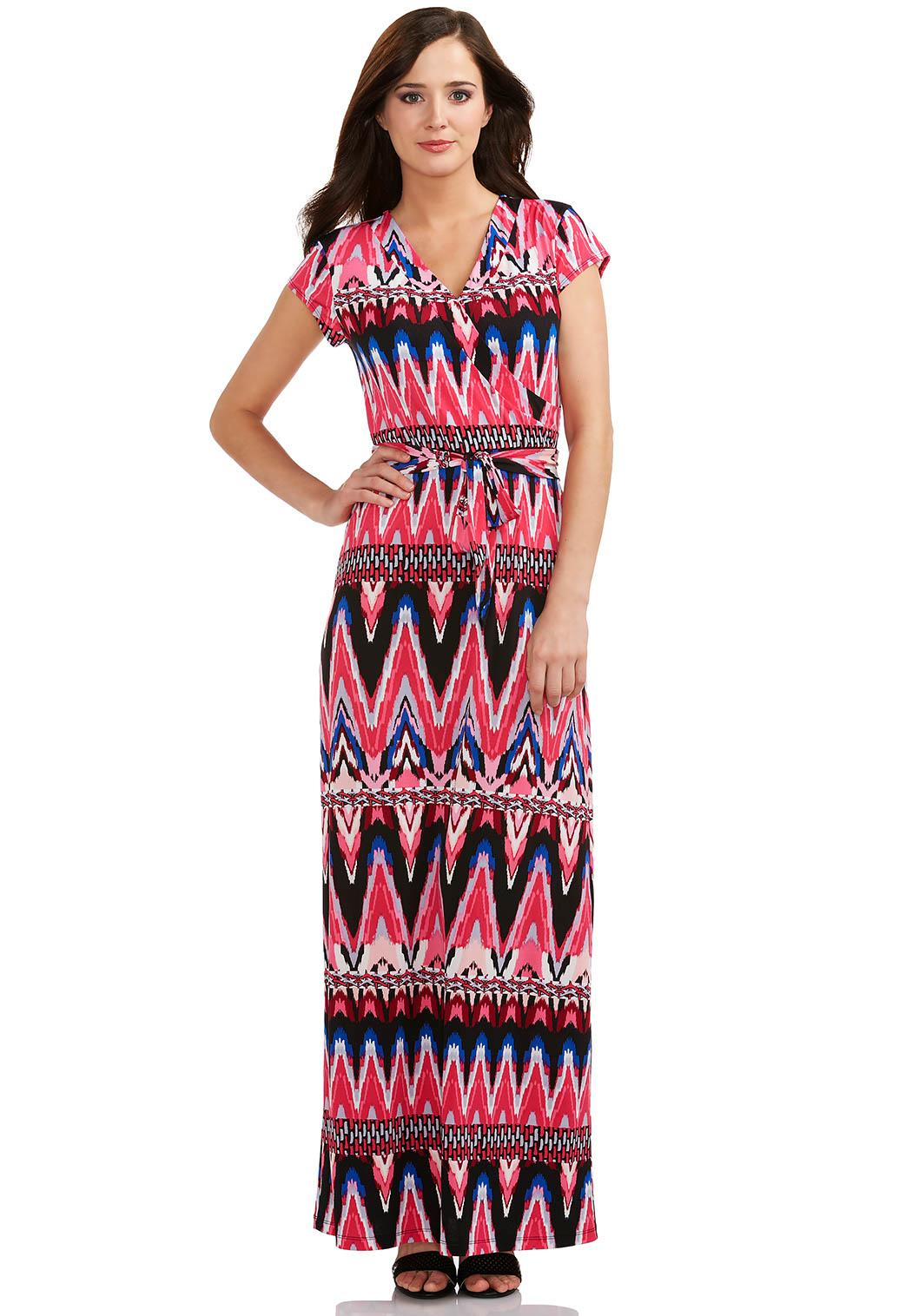 Cato Fashions Online Payments Ikat Print Maxi Dress Dresses