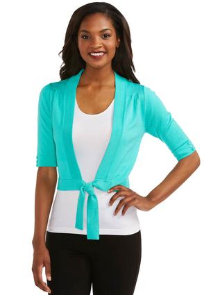 Cato Fashions Shrugs Tie Front Shrug Cropped