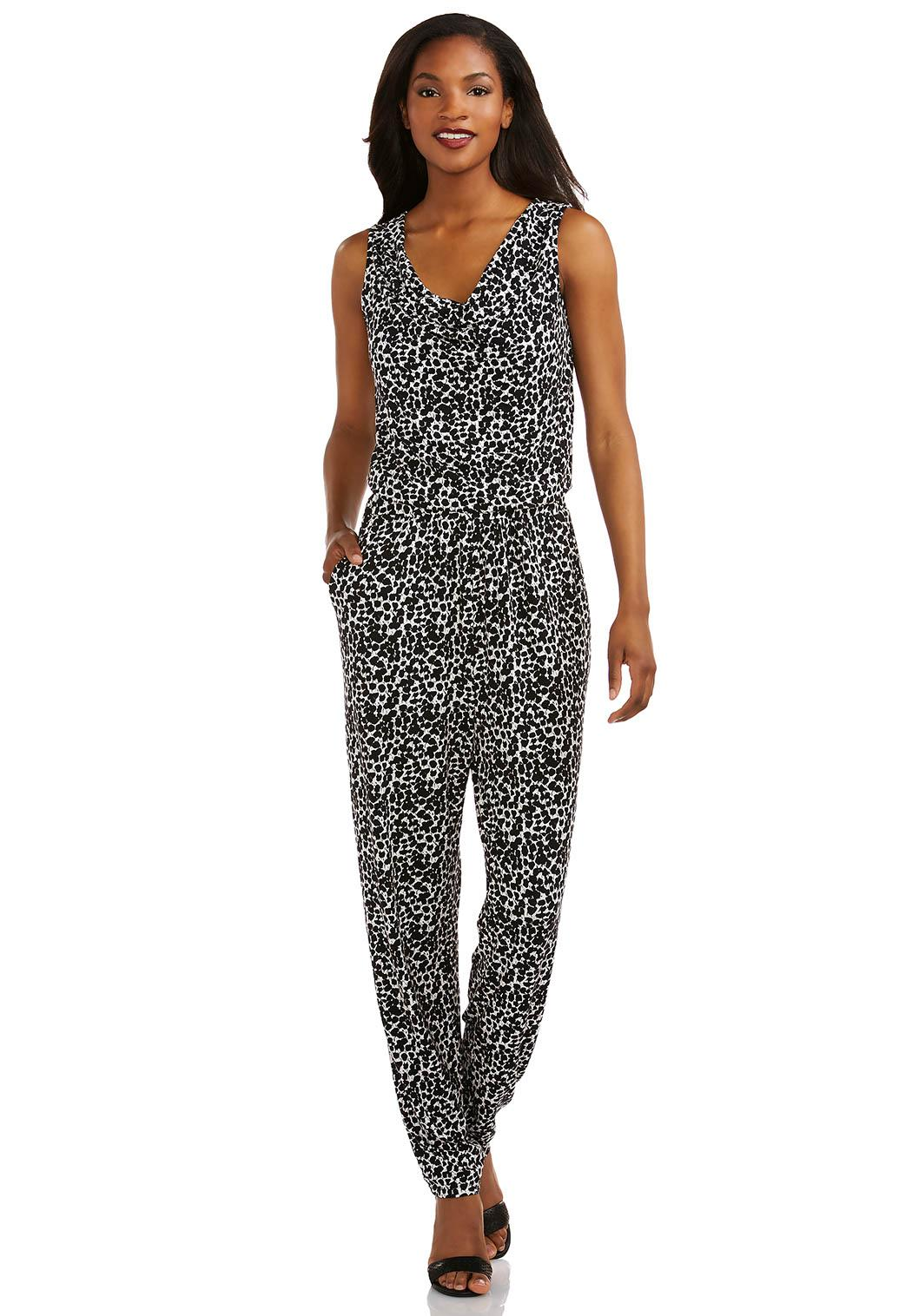 Cato Plus Size Fashion Catalog Speckled Print Jumpsuit Plus