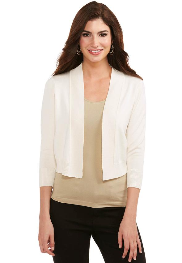 Cato Fashions Shrugs Ruched Back Shrug Cardigan