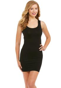 Black Scoop Neck Seamless Slip- Plus