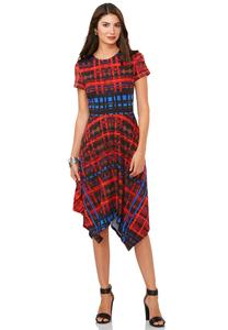 Cato Fashions Plus Sizes Dresses Plaid Hanky Hem Dress Plus