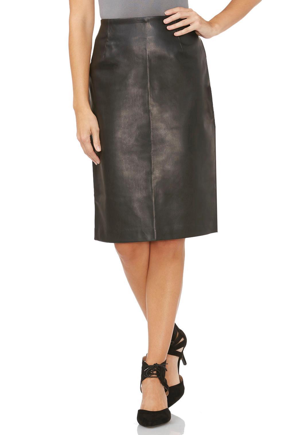 faux leather pencil skirt plus