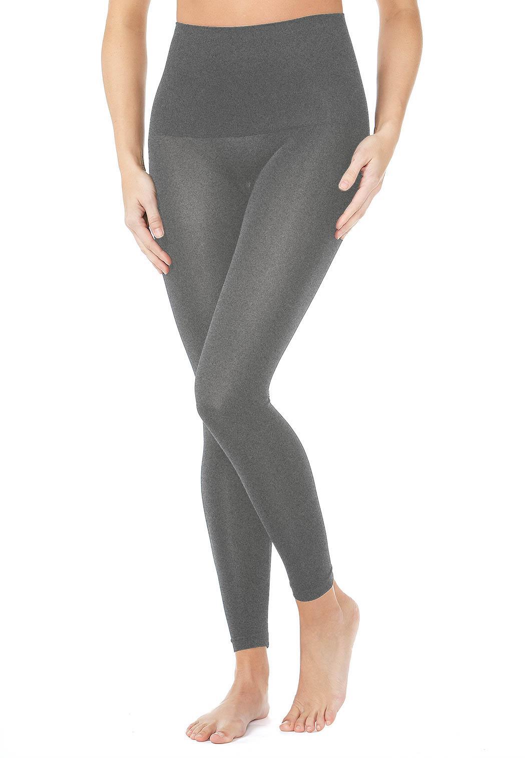 Charcoal Gray Control Leggings-Plus Shapewear Cato Fashions