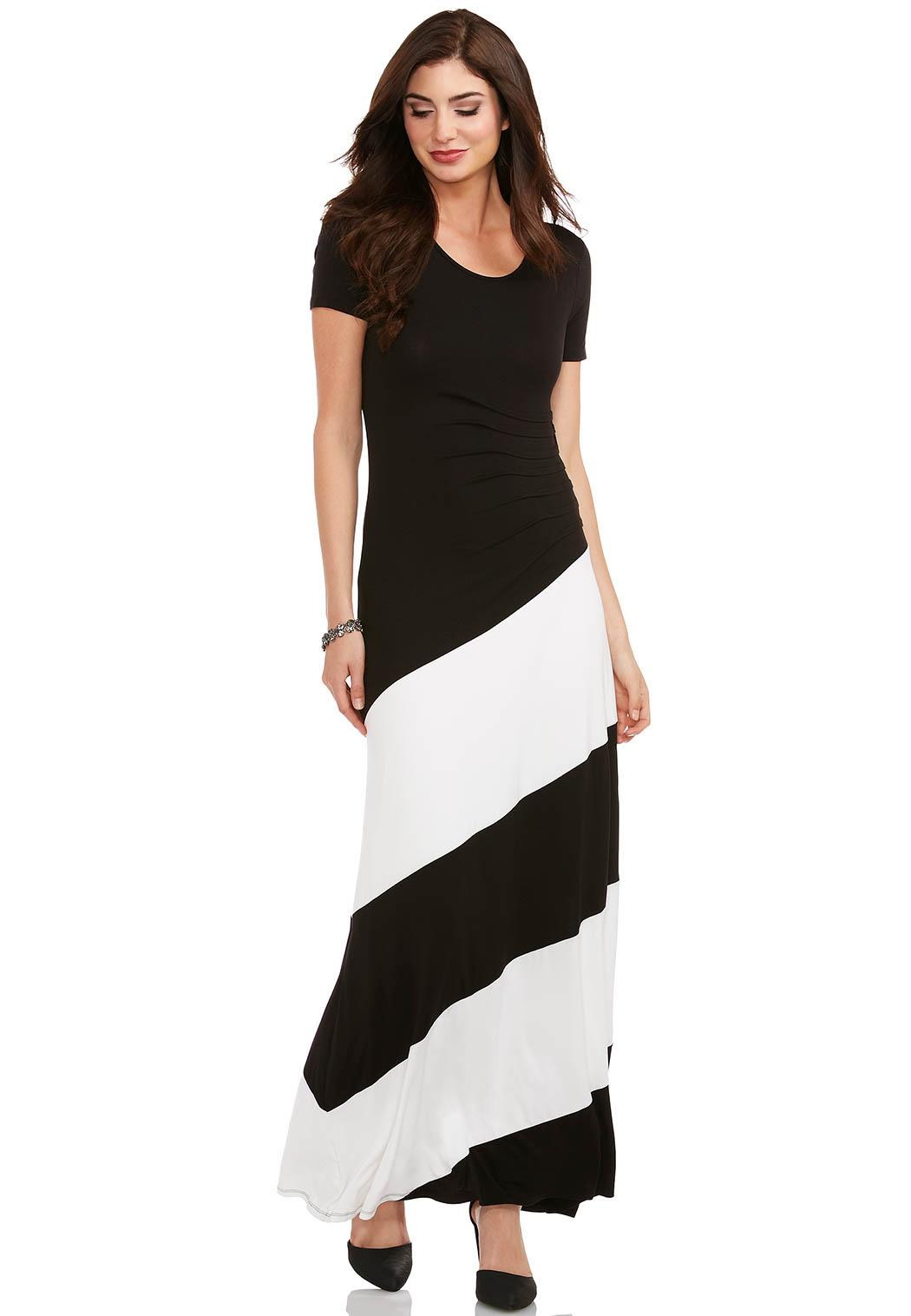Colorblocked Ruched Maxi Dress Dresses Cato Fashions