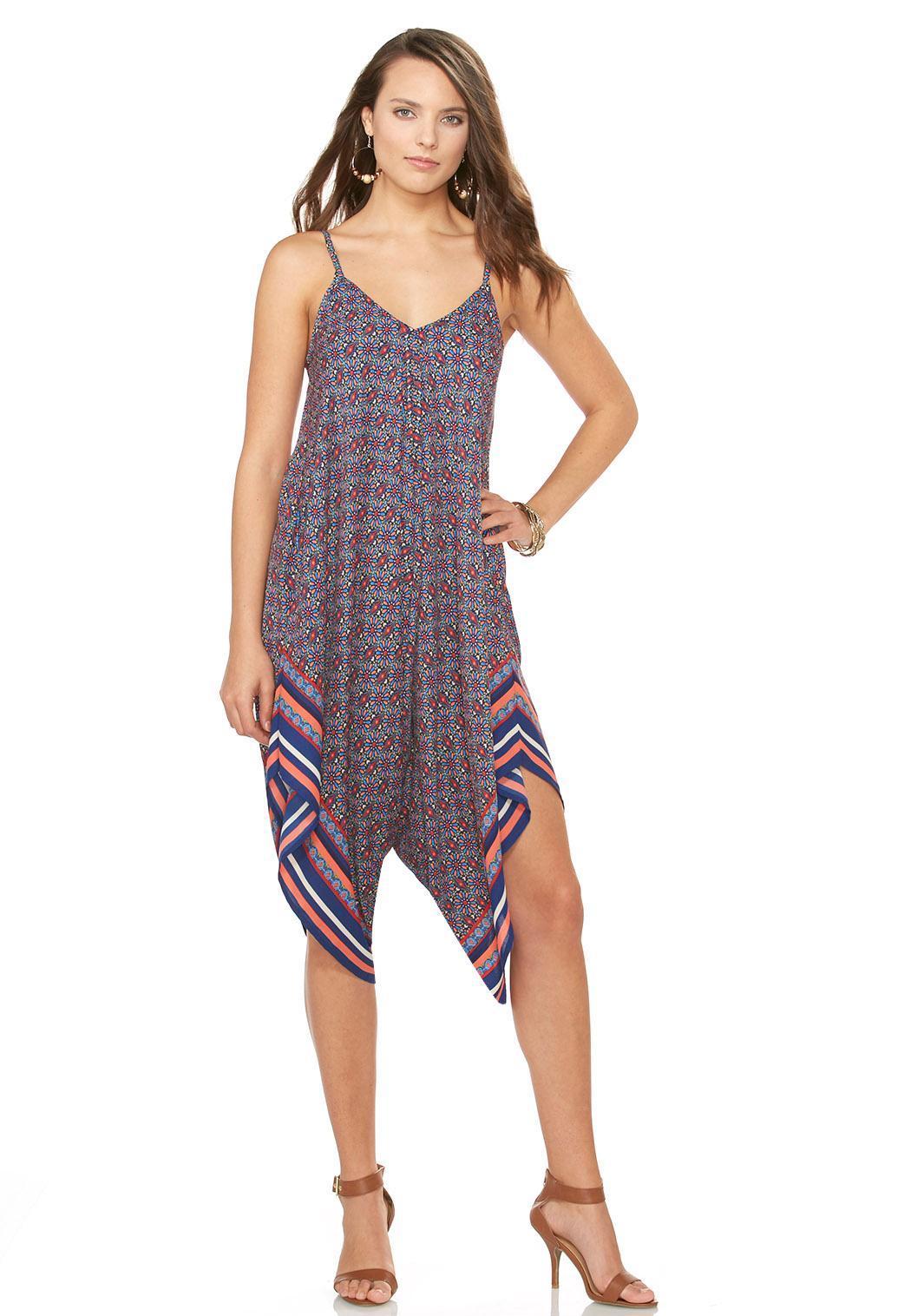Bordered Daisy Genie Jumpsuit Dresses Cato Fashions