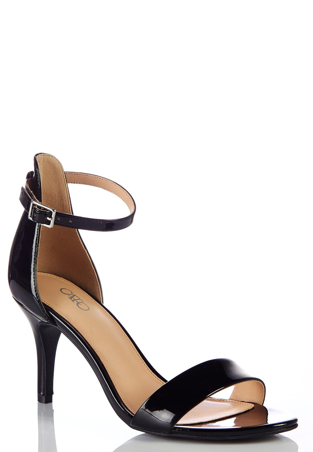 Wide Width Ankle Strap Heeled Sandals Wide Width Cato Fashions