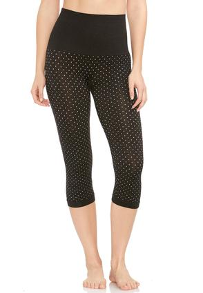 The Perfect Capri Jacquard Dot Leggings- Plus