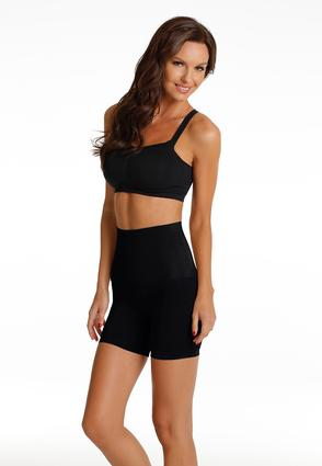 Black Seamless High Waist Shorts