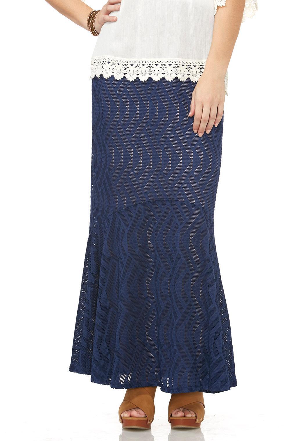 perforated mermaid maxi skirt skirts cato fashions