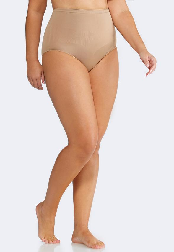 Plus Size Nude Seamless Control Panty