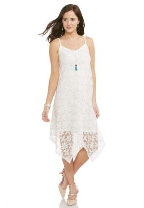 Daisy Lace Hanky Hem Dress- Plus