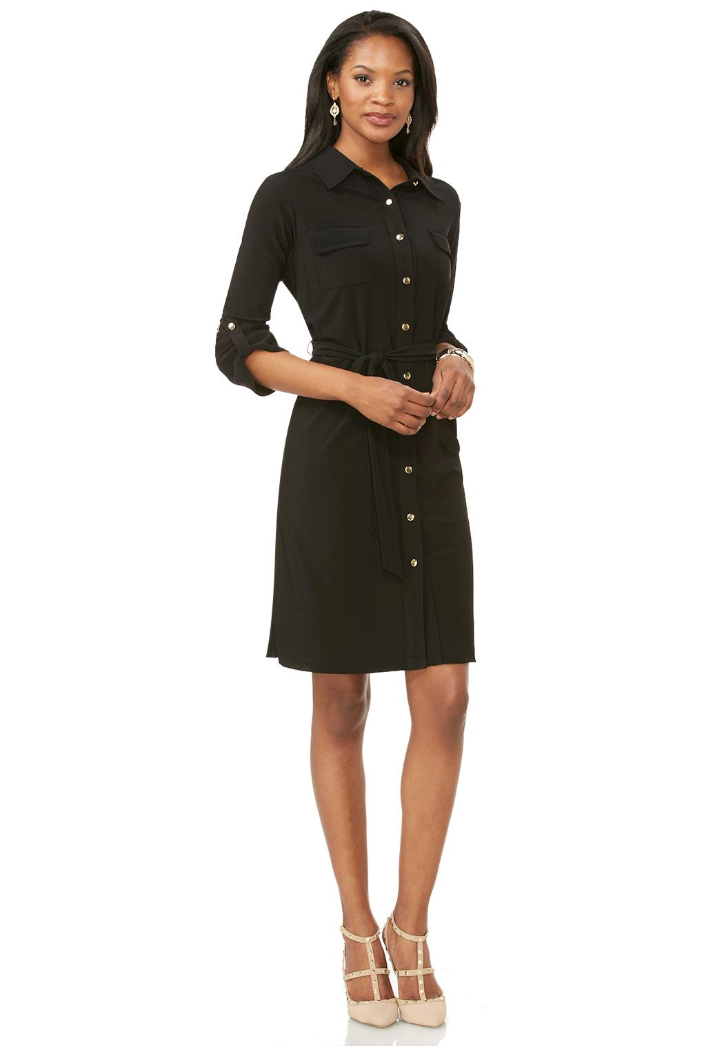 belted knit shirt dress plus dresses cato fashions
