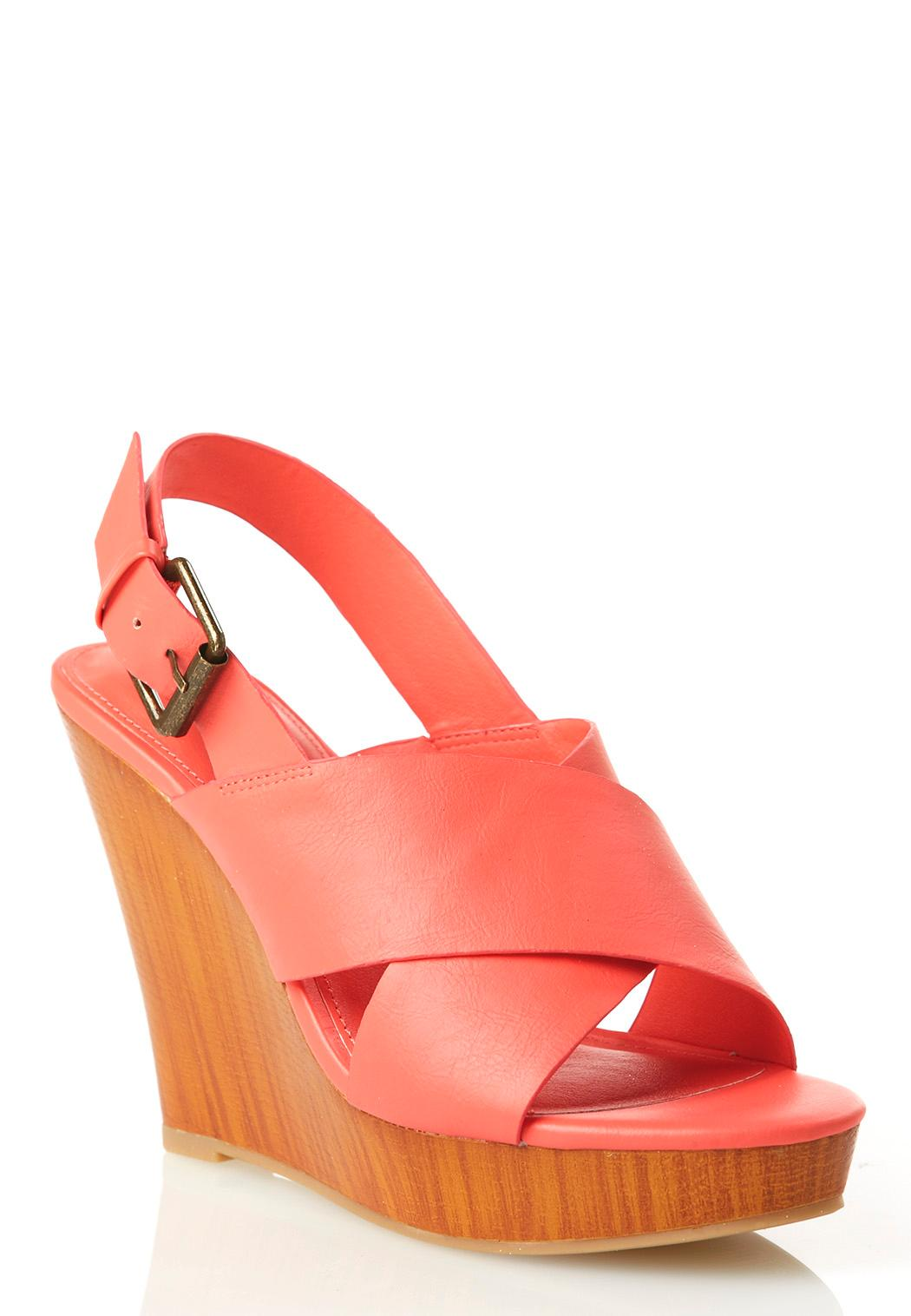 colored crossband platform wedges wedges cato fashions
