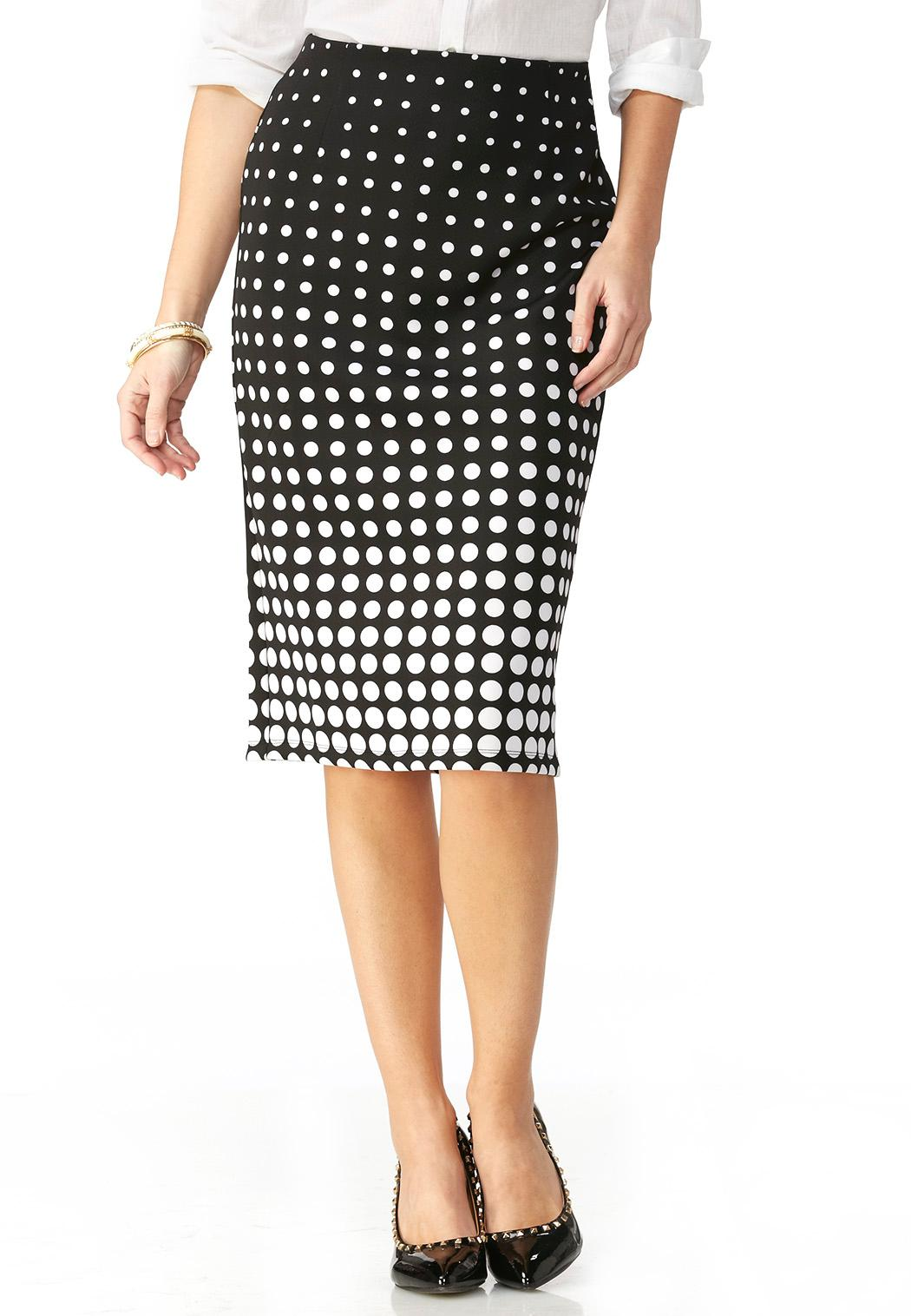 polka dot midi skirt skirts cato fashions