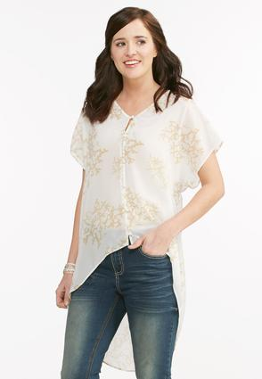 Branch Print High- Low Top