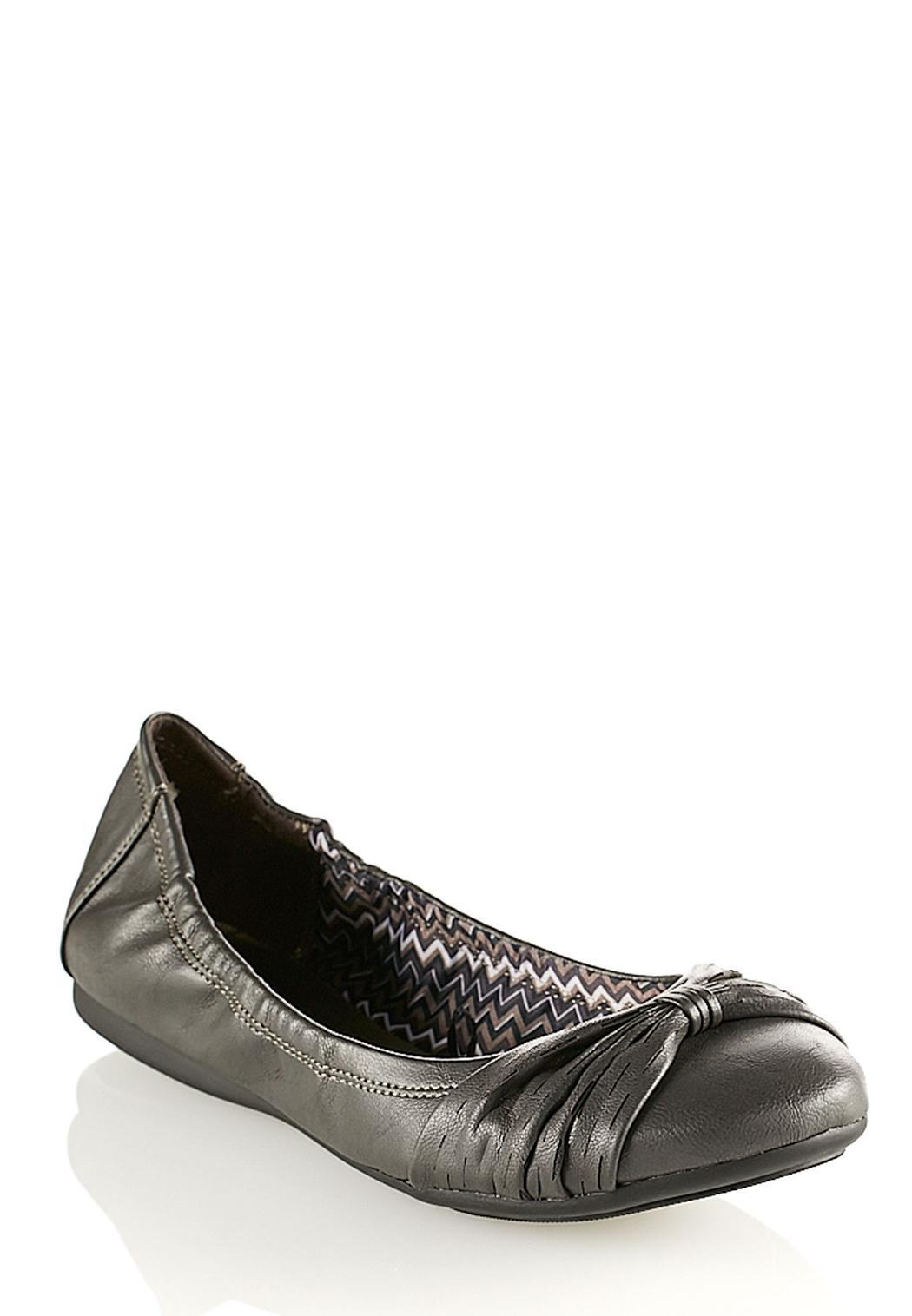 Home D Shoes D Flats D Bow Scrunch Ballet Flats (Style #26920157
