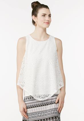 Crochet Overlay Swing Tank- Plus