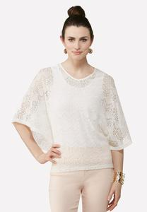 Dolman Lace High- Low Top