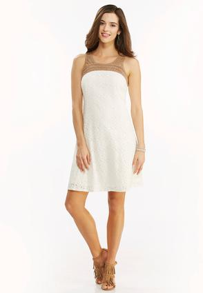 Lace Crochet Trapeze Dress