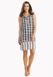 Windowpane Shirt Dress