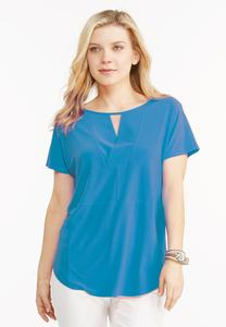 Paneled Keyhole Popover Top