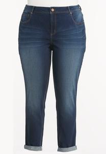 Cuffed So Soft Stretch Ankle Jeans-Plus
