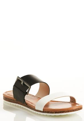 Double Band Buckle Sandals