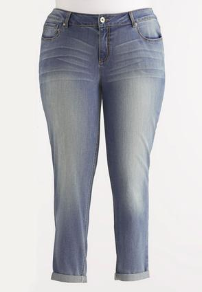 Girlfriend Ankle Jeans- Plus