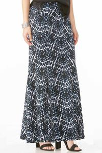 Abstract Mermaid Maxi Skirt